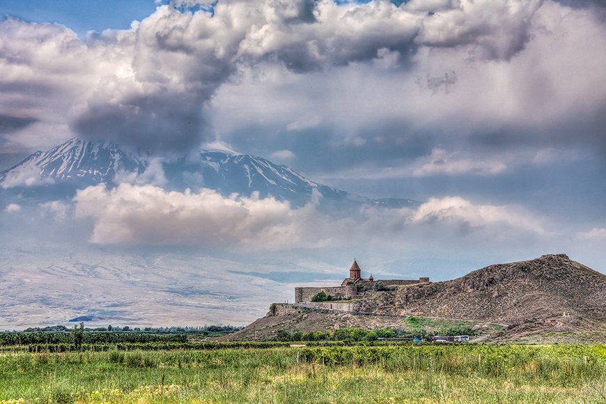 View of Mount Ararat and Khor Virap