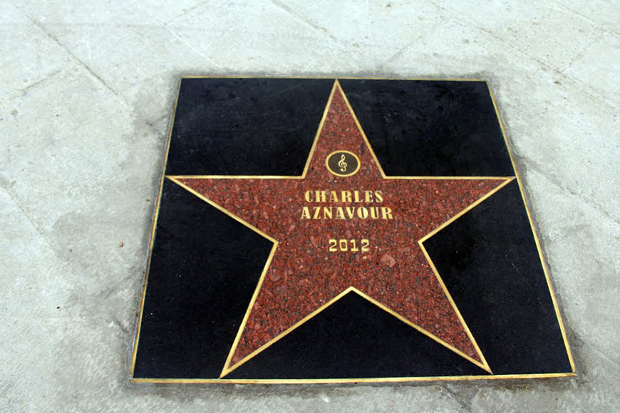 Star honoring Charles Aznavour at the Rabati Castle